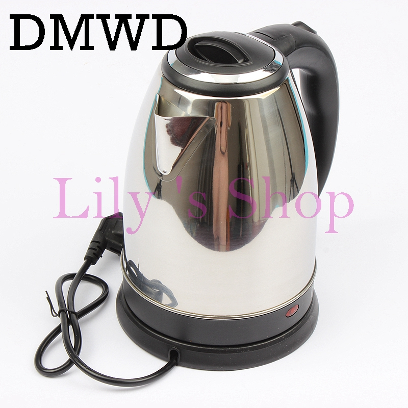 DMWD 110V electric water kettle heating Travel Kettle Mini Cup Portable Stainless Steel Kettle Teapot travelling Tea pot US plug new arrival portable travel abroad electric kettle 0 5l mini electric kettle wst 0903 european travel kettle 110 240v 550 650w