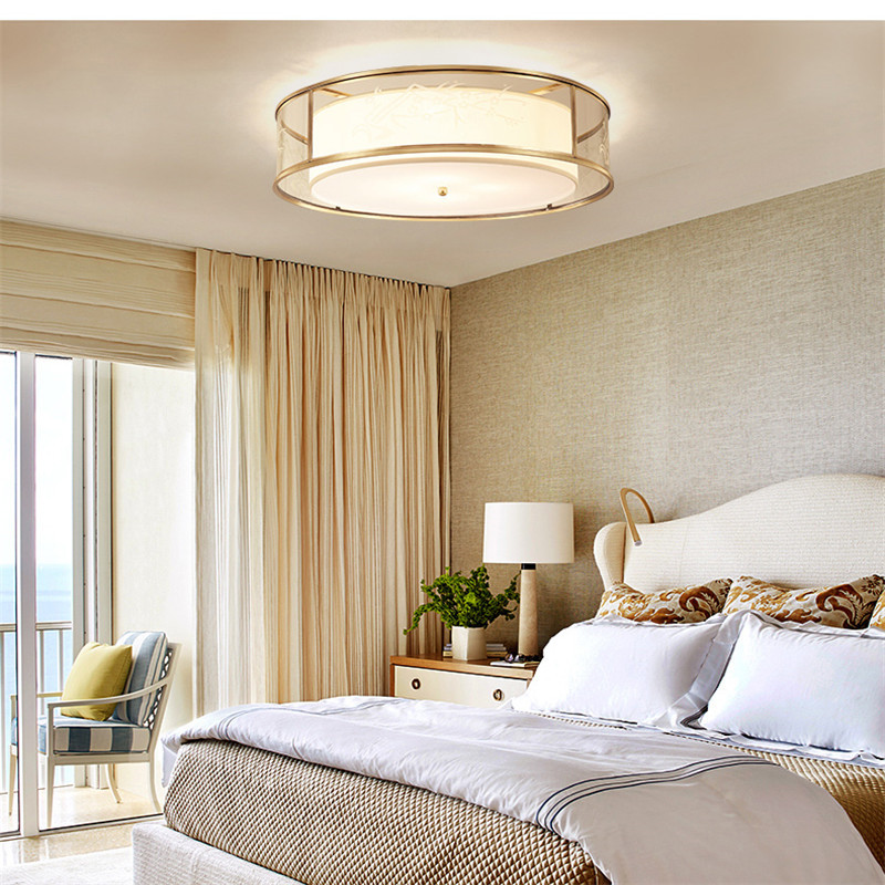 modern creative copper romantic deco LED ceiling light fixture for living room children bedroom lamp plafond lamp kitchen lamp in Ceiling Lights from Lights Lighting