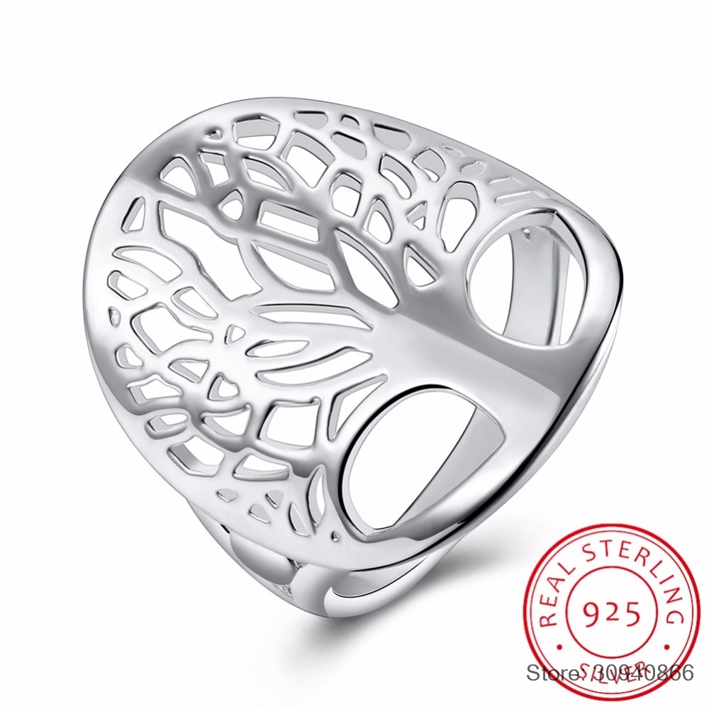 SMTCAT Tree Of Life Ring Classic Accessories 925 Sterling Silver Rings Anillos Fine Jewelry For Women New Mothers Day Gifts