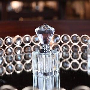 Image 4 - H & D 21 Stili Vintage di cristallo Bottiglie di Profumo Riutilizzabile Vuota Decorazione Della Tavola di Casa Bottiglia di Favori di Nozze