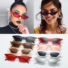 Женские Винтажные Солнцезащитные очки кошачий глаз, модная небольшая оправа UV400, солнцезащитные очки, уличные очки, роскошные трендовые солнцезащитные очки