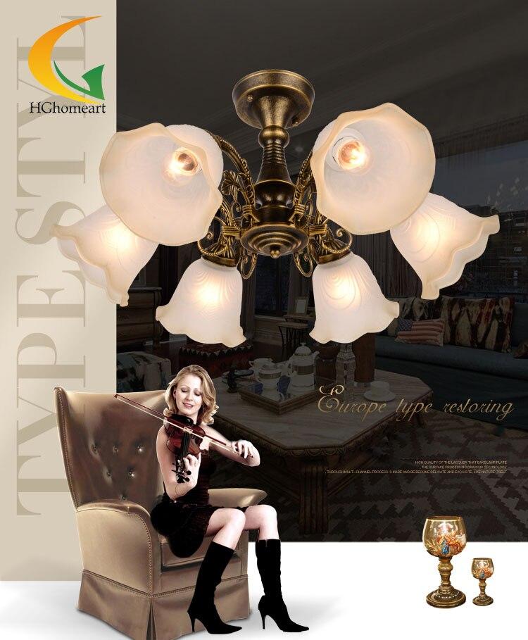 Continental Jane European restaurant chandelier living room chandelier Led bedroom lamp study lamp iron ceiling lights