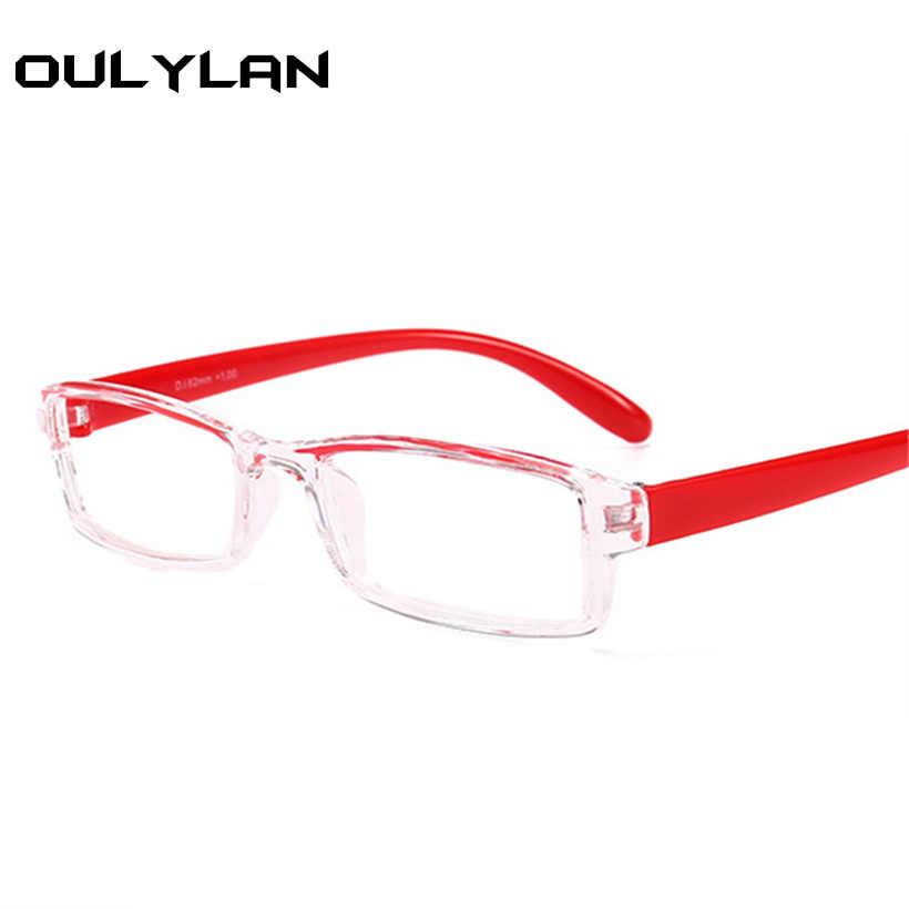 98ac635a03df Oulylan Small Reading Glasses Men Women HD Resin Lens Presbyopic Unisex Glasses  1.5 Fashion Hyperopia +