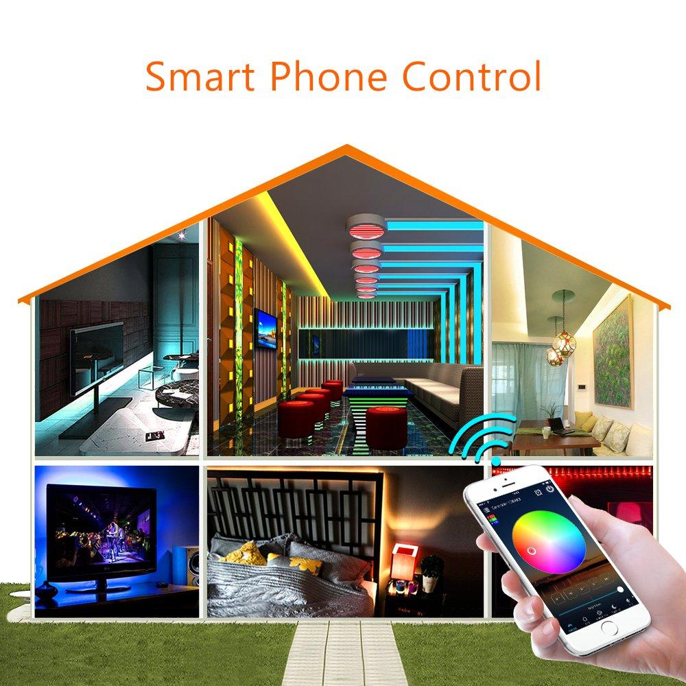 HTB1808bPrPpK1RjSZFFq6y5PpXaJ 5m 10m 15m WiFi LED Strip Light RGB Waterproof SMD 5050 2835 DC12V rgb String Diode Flexible Ribbon WiFi Contoller+Adapter plug