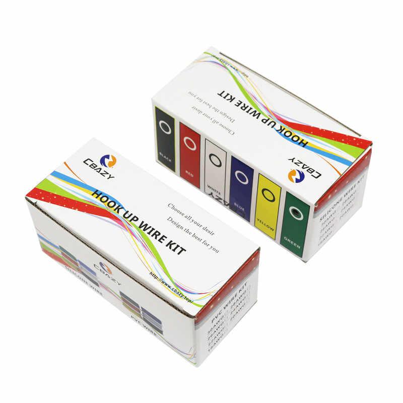 Fil de Silicone Flexible 6 couleurs | Ligne en cuivre teinté (6 couleurs, Kit de fil toronné, mélange de 6 couleurs, bricolage, 18 20 22 24 24 28 30 AWG