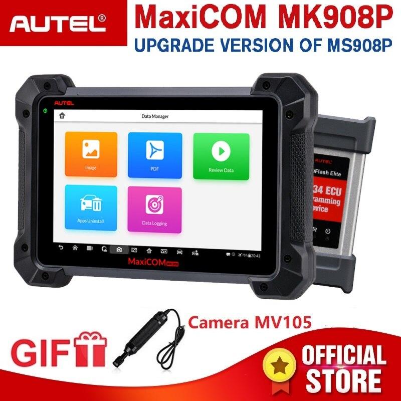 Autel MaxiCOM MK908P OBD2 Strumento di Diagnostica Auto 12 lingue J2534 di Programmazione ECU Tester Codifica PK MS908 PRO MS908P OBD 2 scanner