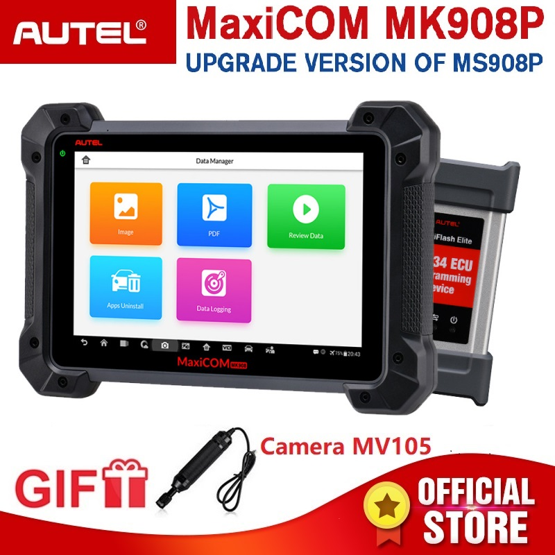 MaxiCOM MK908P OBD2 Car Ferramenta de Diagnóstico Autel 12 línguas J2534 Programação OBD Testador ECU Codificação PK MS908 PRO MS908P 2 scanner