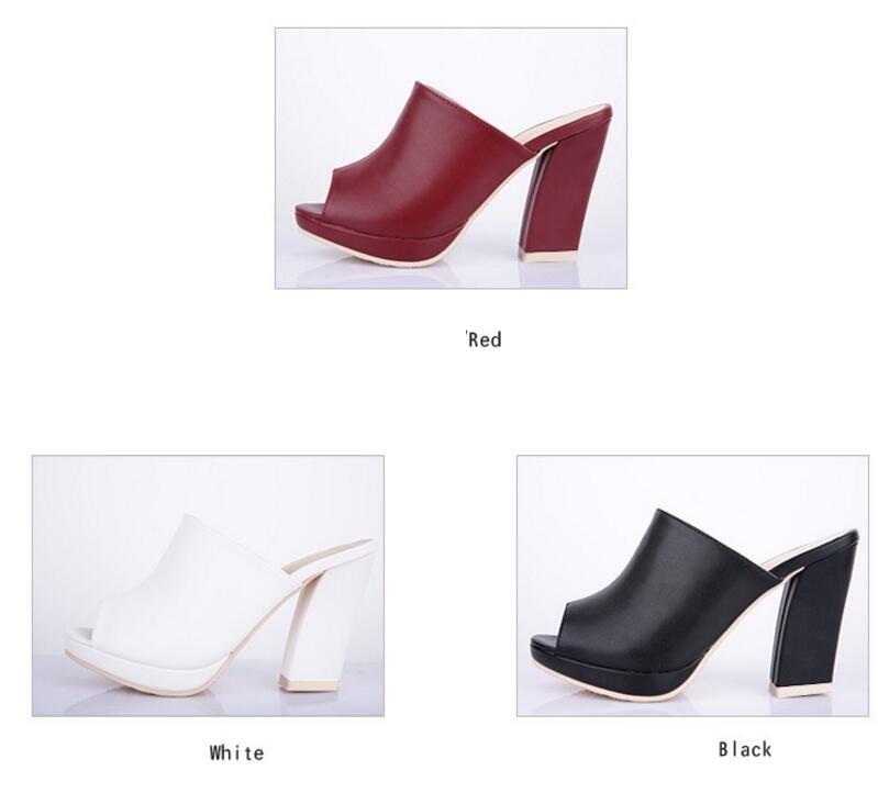 Zapatos Plataforma Pie Señora Abierto B050 Zapatillas Sandalias Del De Red Dedo Zuecos 10 black Casual Sexy Blanco Wine Talón Verano Mujer Cm La Moda white 1 HAXwxz