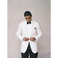 white mens suit tuxedo for men 2017 dress wedding groom wear high quality shawl collar