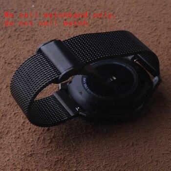 Maglia Cinturino fibbia pieghevole in acciaio inox metallo di Alta qualità Orologi della cinghia della fascia del braccialetto fit Samsung Gear S3 Frontier 22mm