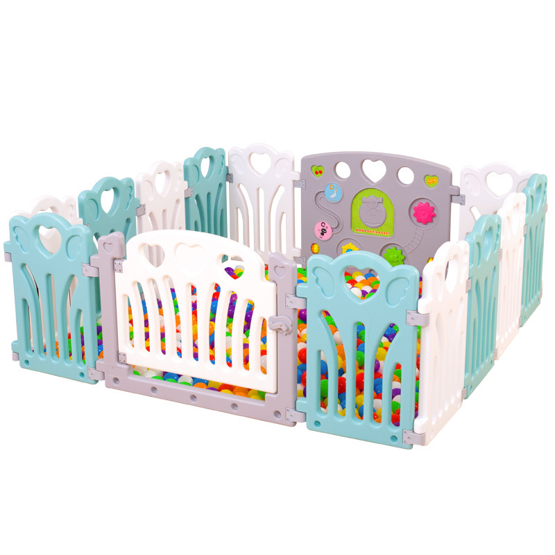 New Style Colorful Baby Game Play Fence Indoor Safe Protection Space Fence For Baby Kids
