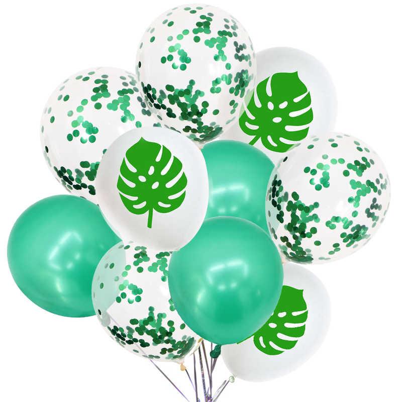 Decoração Do Partido havaiano Abacaxi Tropical Folha do Cacto Latex Balões Pérola Balão De Hélio Feliz Aniversário Do Chuveiro de Bebê Casamento