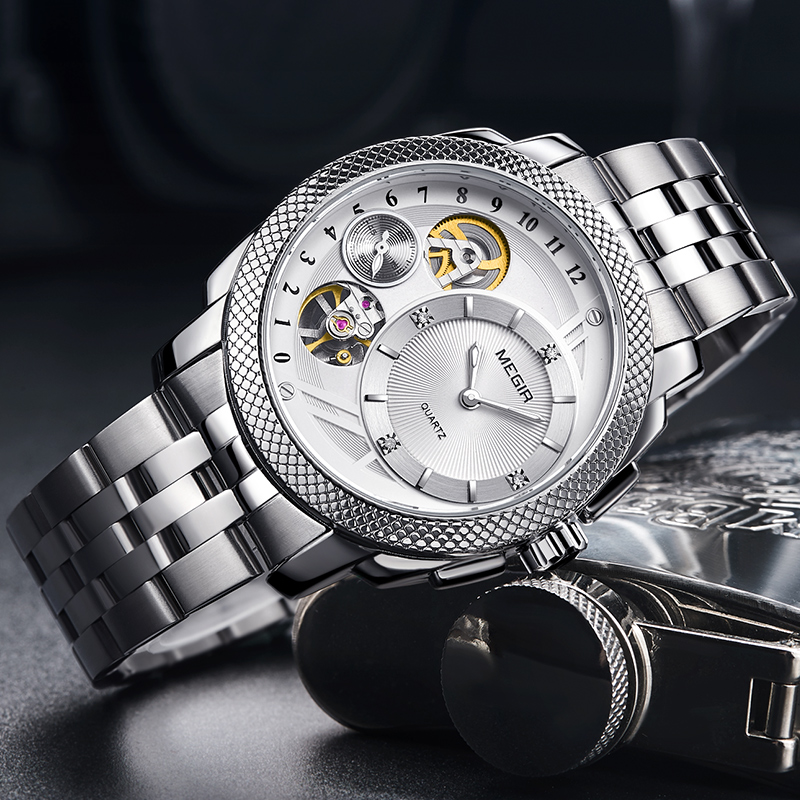 2018 Luxury Brand Stainless Steel Men Watches Quartz Sport Army Military Clock Men Watches Automatic Mechanical Watch winner automatic mechanical watches men s gold luxury steel wrist watch men 2018 military sport skeleton military army clock