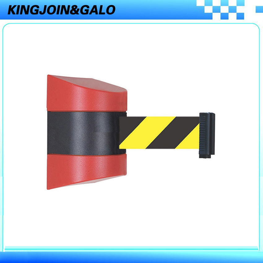 Red & Black Shell With Retractable 10M belt length Wall Mounted Caution Belt For Separated Region max 5m belt lengthe wall amoutn barrier stanchions retractable betl for area separation