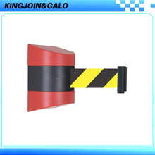 Red & Black Shell With Retractable 10M belt length Wall Mounted Caution Belt  For Separated Region