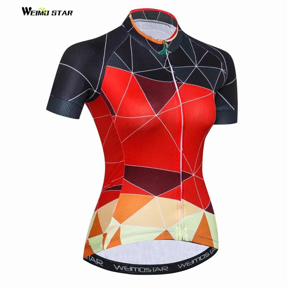 Горный Велоспорт Джерси Женский велосипед Джерси 2018 дорожный Велоспорт Джерси Молодежный MTB велосипедный блузка короткий рукав футболки спортивный топ красный