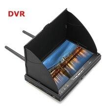 LCD5802D LCD5802S 5802 5,8G 40CH 7 pulgadas Raceband FPV Monitor 800x480 con DVR pantalla de vídeo con batería incorporada para FPV multicópte