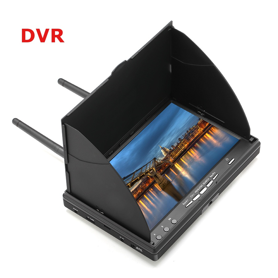 LCD5802S VS LCD5802D 5802 FPV Monitor 7 7 Inch LCD Screen 800*480 5.8G 40CH with Built in Battery for FPV Multicopter
