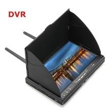 Lcd5802d lcd5802s 5802 5.8g 40ch 7 Polegada raceband fpv monitor 800x480 com dvr build in tela de vídeo da bateria para fpv multicopte