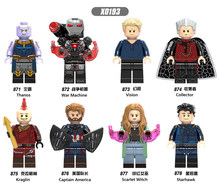 X0193 LegoINGly Marvel Ant Avengers Captain Super Hero Iron Man Hulk Black Panther Man Wasp Building Blocks Toy For Children Set(China)