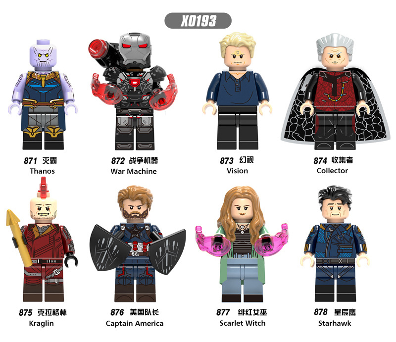 X0193  Marvel Ant  Captain Super Hero Iron Man  Man Wasp Building Blocks Toy For Children Set