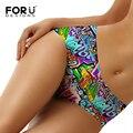 Forudesigns moda underwear seamless bragas de las mujeres femeninas ultra-delgada calzoncillos mujer impresiones de graffiti panty para damas de mediana altura
