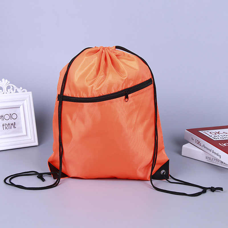 f39e9e0f442f ... 6 Colors Portable Waterproof Nylon Shoe Bags Drawstring Dust Basketball Backpacks  Storage Pouch Outdoor Travel Storage ...