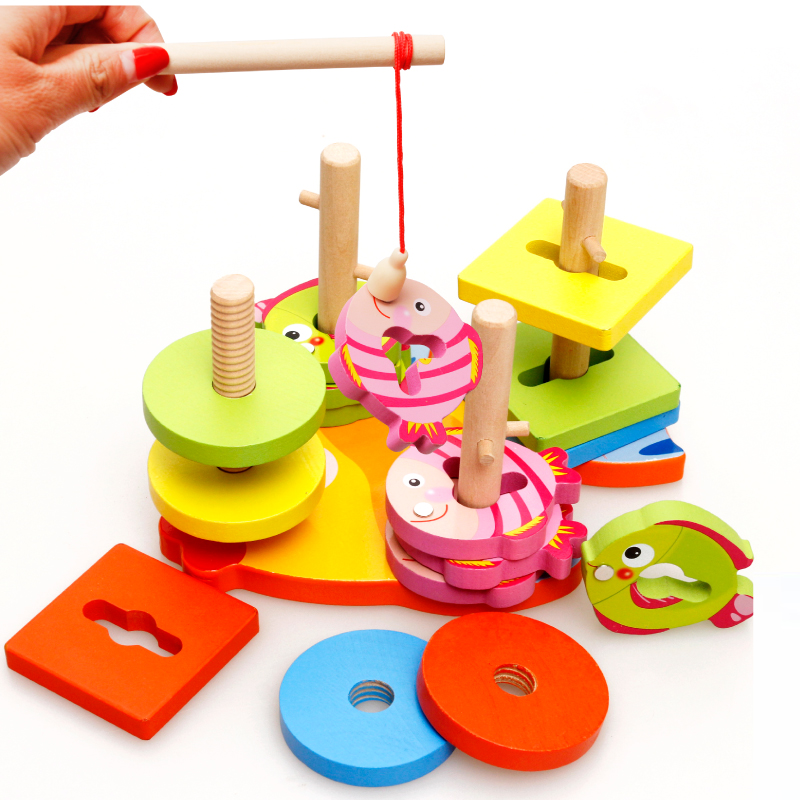 MamimamiHome Baby Wooden Early Education Toys Magnetic Fishing Building Blocks Wooden Toys For Children Building Blocks baby toys city traffic building blocks wooden toys montessori toys for children education kids gift