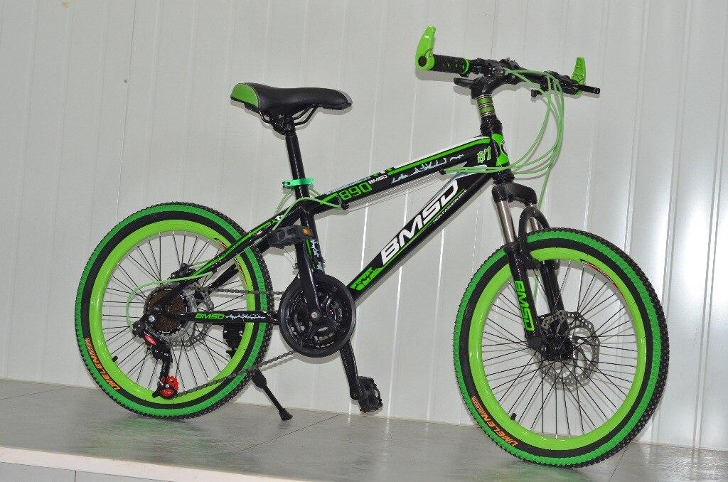 20 Zoll Kinder Mountainbike Kohlenstoffstahl Rahmen 21 Gang ...