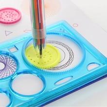 Multi-Function Spirograph Plastic Ruler