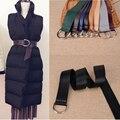 Европа многоцветный супер мягкие кожаные ремни для женщин 2 серебряное кольцо женское платье пальто узел пояса женщина кожаный ремешок украшения