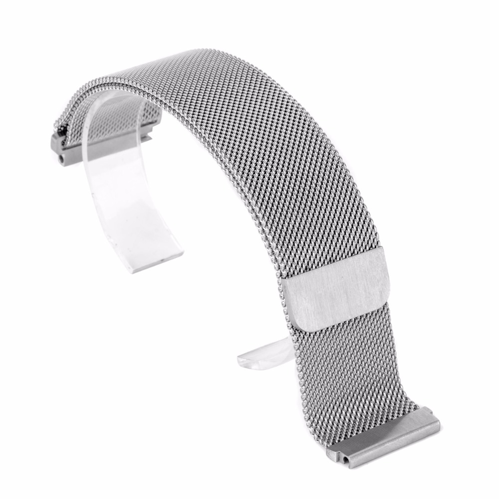 Magnetic Stainless Steel Watch Strap Milanese Loop Mesh Band Strap for Wrist Watch 4 Colors Shellhard 18mm, 20mm, 22mm, 23mm 16 18 20 22 mm silver black gold rose gold ultra thin mesh milanese loop stainless steel bracelet wrist watch band strap belt