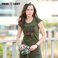 Supreme Shirt Female Brand Short Sleeve Summer Women T Shirts Cotton Military Green Cool T Shirt Women Brand Tops Tees Gs-8505A