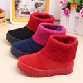 2016 brand design Winter soft warm flock midcalf thick plush infantil high school boot girl children shoes kids girls snow boots