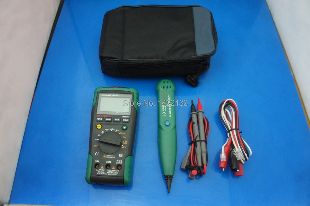 ФОТО MS8236 AUTORANGING DIGITAL MULTIMETER + LAN Tone Phone Detector Cable Tracker Voltage Tester
