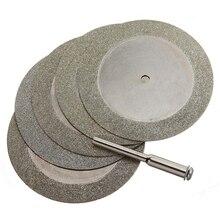 5 discos de corte do diamante dos pces 50mm & broca para o metal de vidro da ferramenta giratória