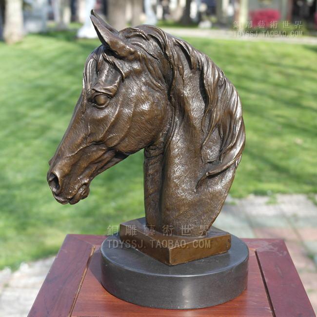 Horse gangnam copper sculpture art crafts decoration zodiac home accessories gift bronze statue (0405)
