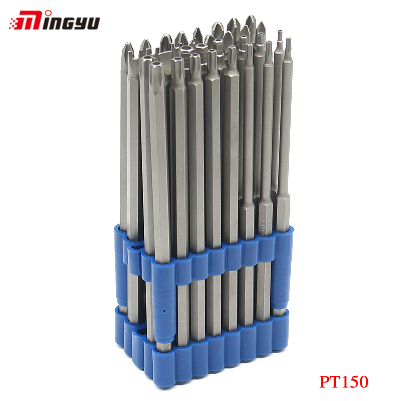 MING YU 32pcs 155mm Long Steel Magnetic Wrench Screwdriver Set Safe Electric Screwdriver Parafusadeira Diagnostic-Tool 32pcs