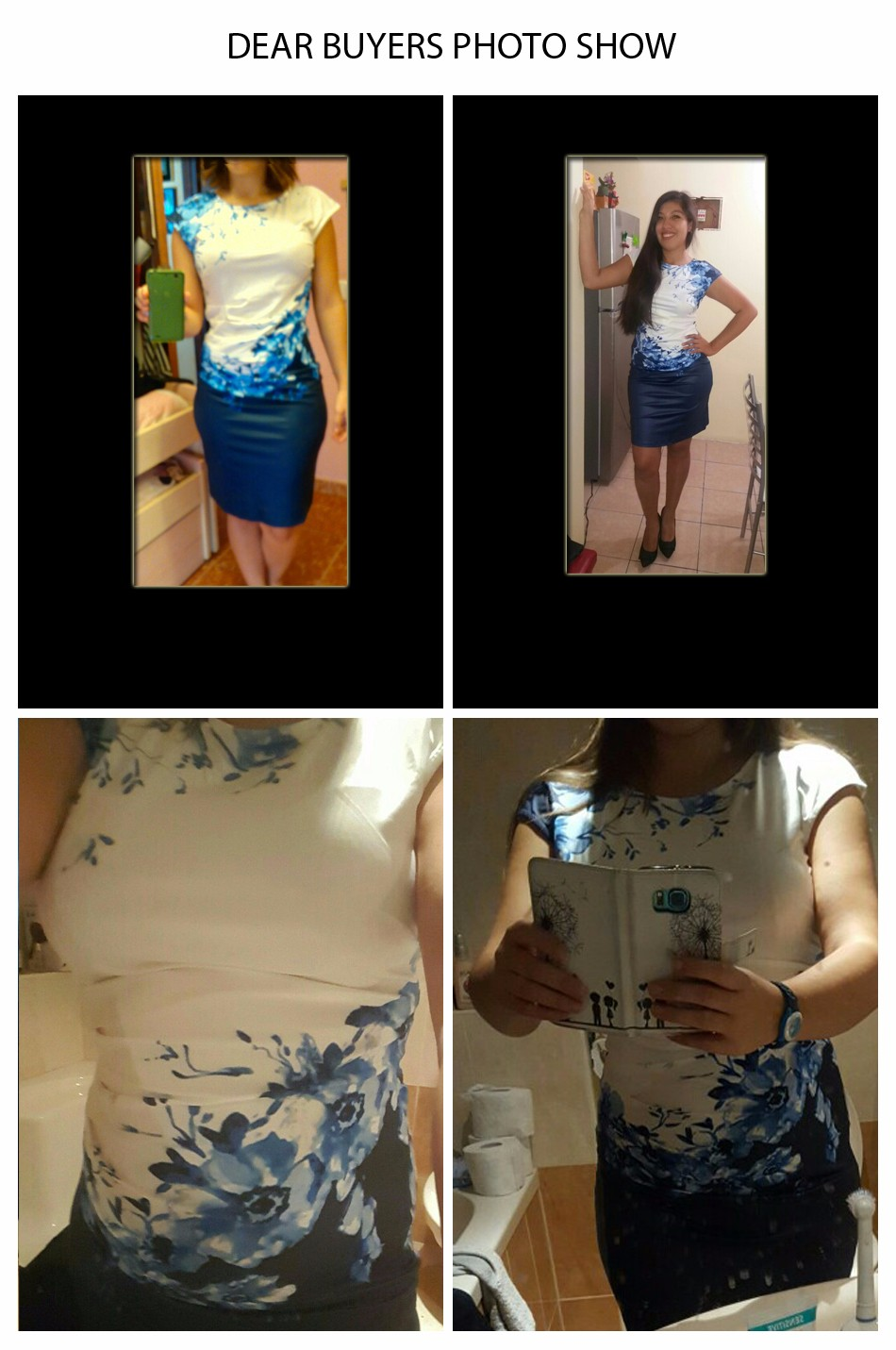 17 Kaige Nina dress Women bodycon dress plus size women clothing chic elegant sexy fashion o-neck print dresses 9026 19