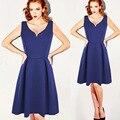 2017 summer style a-line dress fashion sexy backless dress mujeres de cintura delgada dress envío gratis