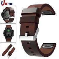 Für Garmin Fenix 5/5 Plus/6/Forerunner935 945 Leder Uhr Band Strap 22mm Quick Fit smart Armband Armband Ersatz Strap