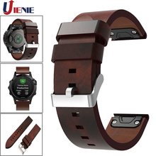For Garmin Fenix 5/5Plus/ 6/Forerunner935 945 Leather Watch Band Strap 22mm Quick Fit Smart Bracelet Wristband Replacement Strap