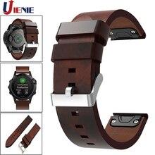 Pour Garmin Fenix 5/5 Plus/6/Forerunner935 945 Bracelet de montre en cuir Bracelet de remplacement de Bracelet intelligent à ajustement rapide 22mm