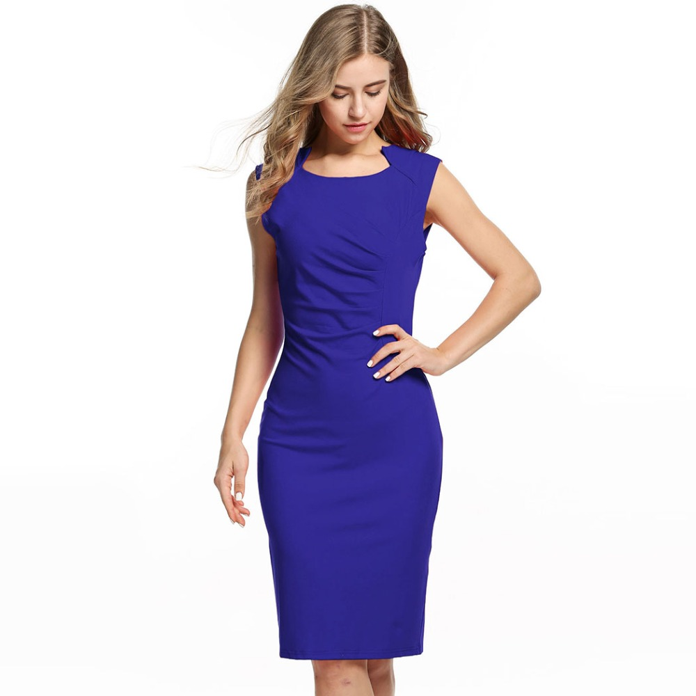Women Summer Dress 2015 Red Blue Sexy Casual Sleeveless Bodycon Dress Female Summer Style Club Bandage