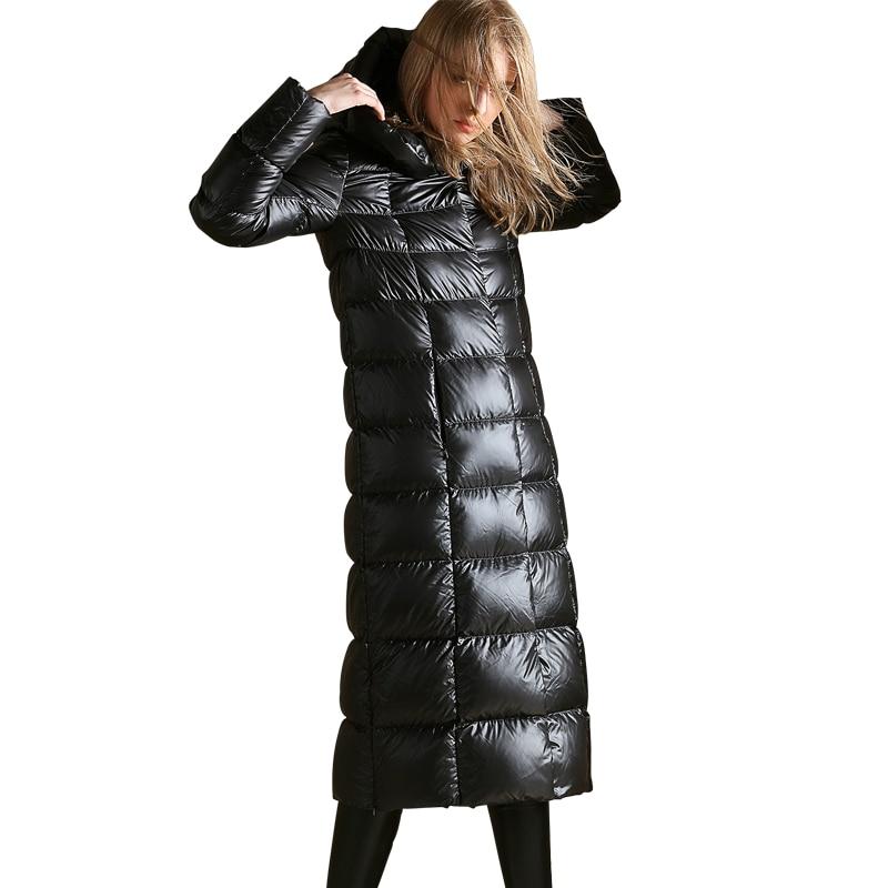 144b3bb0feafb ... AYUNSUE White Goose Down Jacket 2019 Winter Coat Women Warm Long Down  Coat Puffer Womens Jackets ...
