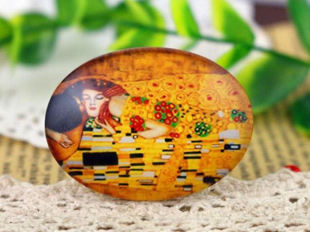 Hot Sale 2pcs 30x40mm Handmade Photo Glass Cabochons (I4-38)