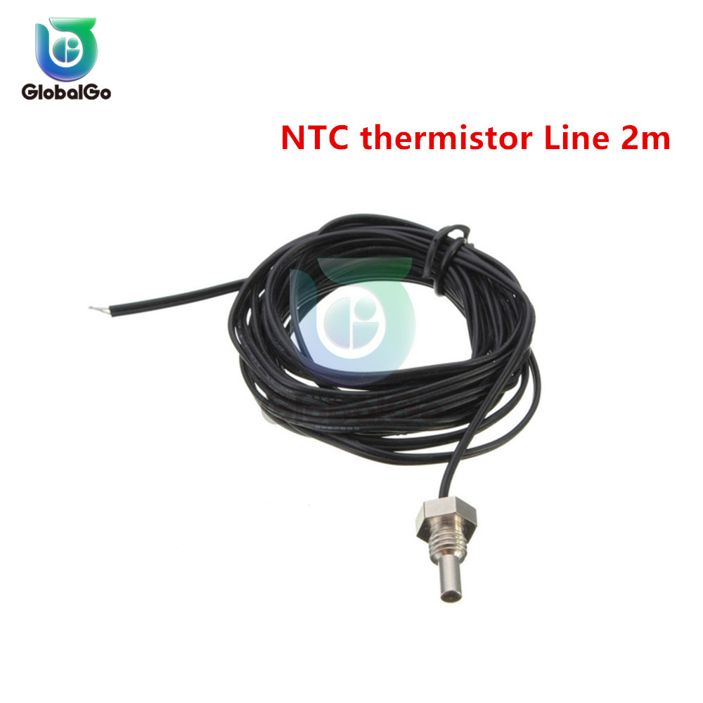 W3230 светодиодный цифровой термостат для контроля температуры AC/DC 12в AC 110в 220в 20A Мини светодиодный дисплей термостата водонепроницаемый зонд - Цвет: NCT thermistor 2M