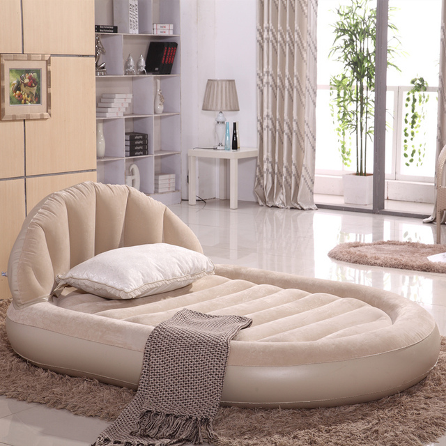 Living Room Furniture Folding Bed Inflatable Sofa Bean Bag Daybed Set Double