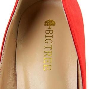 "Image 3 - BIGTREE 2019 אופנה 10 ס""מ גבוהה עקבים נשים ולנטיין כחול משאבות נקבה סאטן פגיון העקב Tacones פטיש משי גליטר אדום נעליים"