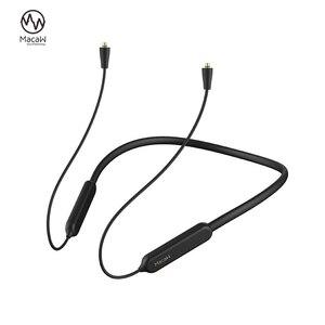 Image 1 - Bluetooth 5.0 Aptx/ aptx ll כבל mmcx A2DC 2PIN 0.78 IE80 IE40 IM עמיד למים אלחוטי Bluetooth אוזניות כבל עבור SHURE SE215